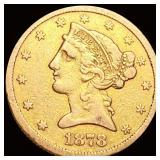 1878-S $5 Gold Half Eagle XF