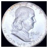 1963-D Franklin Half Dollar ABOUT UNCIRCULATED