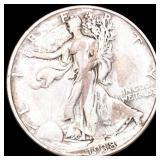 1938-D Walking Half Dollar NICELY CIRCULATED
