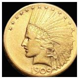 1909-S $10 Gold Eagle ABOUT UNCIRCULATED