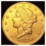 1881-S $20 Gold Double Eagle UNCIRCULATED