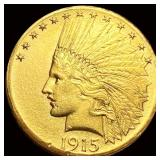 1915 $10 Gold Eagle CLOSELY UNC