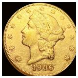 1906-S $20 Gold Double Eagle UNCIRCULATED