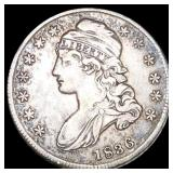 1836 Capped Bust Half Dollar LIGHTLY CIRCULATED