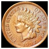 1907 Indian Head Penny CLOSELY UNC