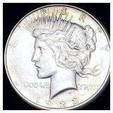 1923-D Silver Peace Dollar CLOSELY UNC