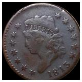 1813 Classic Head Large Cent LIGHTLY CIRCULATED