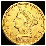1851 $2.50 Gold Quarter Eagle CLOSELY UNC