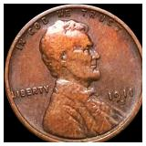 1911-S Lincoln Wheat Penny LIGHTLY CIRCULATED