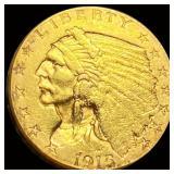 1915 $2.50 Gold Quarter Eagle UNCIRCULATED