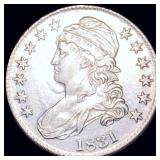 1831 Capped Bust Half Dollar CLOSELY UNC