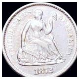 1872-S Seated Half Dime UNCIRCULATED