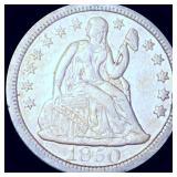 1850 Seated Liberty Dime XF