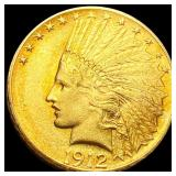 1912 $10 Gold Eagle NEARLY UNCIRCULATED