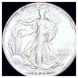 1943 Walking Half Dollar CLOSELY UNCIRCULATED