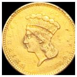 1857 Rare Gold Dollar ABOUT UNCIRCULATED