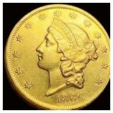 1861 $20 Gold Double Eagle UNCIRCULATED