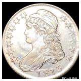1813 50c/UNI Capped Bust Half Dollar CLOSELY UNC
