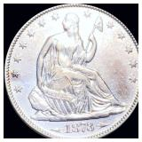 1873 Seated Half Dollar CLOSELY UNC