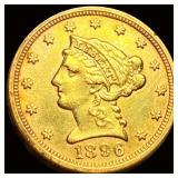 1896 $2.50 Gold Quarter Eagle CLOSELY UNC