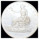 1875-CC Silver Trade Dollar ABOUT UNCIRCULATED