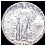 1923-S Standing Liberty Quater FULL HEAD UNC *KEY*