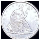 1861-O Seated Liberty Half Dollar UNCIRCULATED