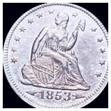 1853 Seated Liberty Quarter NEARLY UNC