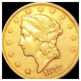 1877-S $20 Gold Double Eagle ABOUT UNCIRCULATED