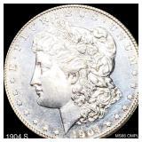 1904-S Morgan Silver Dollar GEM BU DMPL