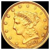 1861 $2.50 Gold Quarter Eagle CLOSELY UNC