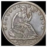 1853 Seated Liberty Half Dollar UNCIRCULATED