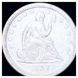 1857 Seated Liberty Quarter ABOUT UNCIRCULATED