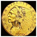 1910-D $2.50 Gold Quarter Eagle CLOSELY UNC