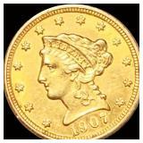 1907 $2.50 Gold Quarter Eagle UNCIRCULATED