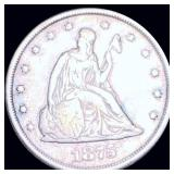 1875-CC Seated Twenty Cent Piece NICELY CIRCULATED