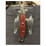 Brown Handle Switchblade Knife