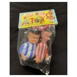 RARE Fat and Slim-Lauel & Hardy Knockoff Toy MIP
