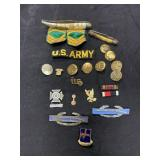 Huge Vintage Military Patch Pin Badge and Knife Lo
