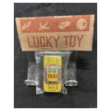 Vintage Five & Dime Toy Metal Yellow Taxi Cab Car