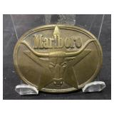 Vintage Marlboro Tobacco Belt Buckle with Bull