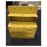 Vintage Salesman Sample Metal Hoosier Cabinet