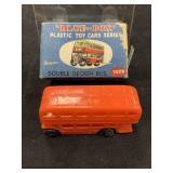 Vintage Blue Box Double Decker Bus Car Toy In Box