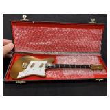 Vintage Well Made Salesman Sample Guitar in Case