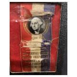 Vintage1932 KY UMS Masons George Wasington Pin/Rib