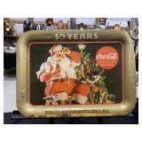 Vintage 1984 Coca Cola Big Bear Santa Tray