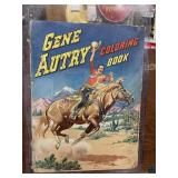 Vintage GENE AUTRY Giant Coloring Book! Western