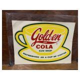 Vintage RARE Golden Girl Cola Original Decal Sign