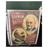 Barnum and Bailey Circus Poster Ad Sign