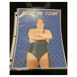Andre The Giant Poster Sign WWf Wrestling